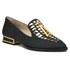 Kat Maconie Women's Esme Leather Mirror Pointed Flat Shoes - Black: Image 5