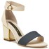 Kat Maconie Jenny Leather Block Heel Contrast Sandals - Grey/Nude: Image 5