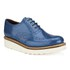 Grenson Women's Emily V Patent Leather Platform Brogues - Blue: Image 5