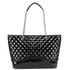 Love Moschino Women's Quilted Patent Shopper Bag - Black: Image 5