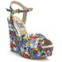Love Moschino Women's Printed Wedged Sandals - White Multi: Image 5
