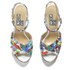 Love Moschino Women's Printed Wedged Sandals - White Multi: Image 2