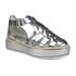 Jil Sander Navy Women's Leather Strappy Flatform Sandals - Dark Grey: Image 5