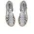 Jil Sander Navy Women's Leather Strappy Flatform Sandals - Dark Grey: Image 2
