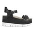 Ash Women's Vera Flatform Leather Sandals - Black: Image 1