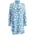 YMC Women's Silk Dot Shirt Dress - Powder Blue: Image 1