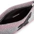 Matthew Williamson Women's Glitter Clutch Bag - Light Pink/Silver: Image 4
