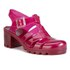 JuJu Women's Babe Heeled Jelly Sandals - Garnet: Image 5