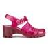 JuJu Women's Babe Heeled Jelly Sandals - Garnet: Image 1
