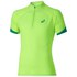Asics Men's Shorts Sleeve Half Zip Running T-Shirt - Green Gecko: Image 1