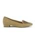 Ravel Women's Anaconda Suede Pointed Flat Shoes - Tan: Image 1
