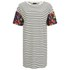 VILA Women's Tinny Print Sleeve Dress - Snow White: Image 1