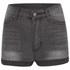 Cheap Monday Women's 'Short Skin' High-Waist Denim Shorts - Grey: Image 1
