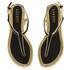 Lauren Ralph Lauren Women's Abegayle Metallic Trim Sandals - Black/Gold: Image 2
