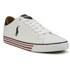Polo Ralph Lauren Men's Harvey-Ne Canvas Trainers - Pure White/Newport Navy: Image 5