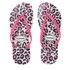 Havaianas Women's Slim Animals Flip Flops - White/Rose: Image 1