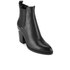 Alexander Wang Women's Gabriella Tumbled Leather Heeled Ankle Boots - Black: Image 5