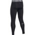 Under Armour Men's Armour HeatGear Compression Training Leggings - Black/Steel: Image 2