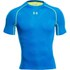 Under Armour Men's Armourvent Compression Short Sleeve Training T-Shirt - Blue Jet/High-Vis Yellow: Image 1