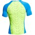 Under Armour Men's Armourvent Compression Short Sleeve Training T-Shirt - Blue Jet/High-Vis Yellow: Image 2