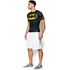 Under Armour Men's Batman Compression Short Sleeved T-Shirt - Negro/Amarillo: Image 5