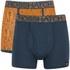 Crosshatch Men's Squint 2-Pack Boxer Shorts - Apricot/Blue Wing: Image 1