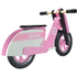 Kiddimoto Stripe Scooter - Pink: Image 3