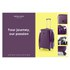 Redland '60TWO Collection' Hardsided Trolley Suitcase Set - Purple - 75/65/55cm (3 Piece): Image 8