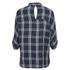 ONLY Women's Suki 3/4 Sleeve Check Shirt - Cloud Dancer Blue: Image 2