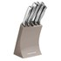 Morphy Richards 974801 5 Piece Knife Block - Barley: Image 1