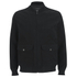 Knutsford Men's 'Made in England' Moleskin Zip-Through Bomber Jacket - Black Moleskin: Image 1