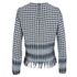 House of Holland Women's Afghan Check Long Sleeve Top - Black/White: Image 2