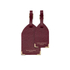 Aspinal of London Set of 2 Luggage Tags - Burgundy Saffiano: Image 1