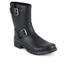 Lauren Ralph Lauren Women's Mora Matt Buckle Rubber Boots - Black: Image 4