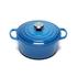 Le Creuset Signature Cast Iron Round Casserole Dish - 24cm - Marseille Blue: Image 1