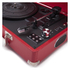 GPO Retro Attache Briefcase Style Three-Speed Portable Vinyl Turntable with Free USB Stick and Built-In Speakers - Red: Image 4