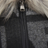 ONLY Women's Kiva Faux Fur Poncho - Dark Grey Melange: Image 3