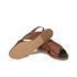HUGO Women's Valenteen Snake Print Leather Crossover Sandals - Light/Pastel Brown: Image 6