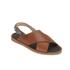 HUGO Women's Valenteen Snake Print Leather Crossover Sandals - Light/Pastel Brown: Image 5