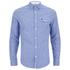 Original Penguin Men's Facade Long Sleeve Shirt - Snorkel Blue: Image 1