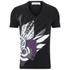 Versace Collection Men's V Neck Print T-Shirt - Black: Image 1