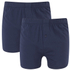 Wolsey Men's Twin Pack Jersey Boxer Shorts - Navy: Image 1