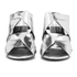 Senso Women's Xanthe II Chrome Strappy Mule Sandals - Silver: Image 4