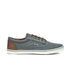Jack & Jones Men's Vision Mix Canvas Pumps - Pewter: Image 1