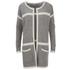 Vero Moda Women's Odelia Long Sleeve Coatigan - Light Grey Melange: Image 1