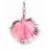 Charlotte Simone Women's Gobstopper Keyring - Black/Silver Fox/Pink Mix Pom: Image 1