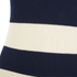 Ganni Women's Stripe Sleeveless High Neck Jumper - Vanilla Ice/Total Eclipse: Image 3