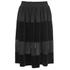 Ganni Women's Sheer Panel Skirt - Black: Image 1