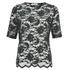 Ganni Women's Lace Short Sleeve Blouse - Black/Botanical Garden: Image 1