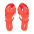 Melissa Women's Harmonic Twin Bow Flip Flops - Coral Pop: Image 1